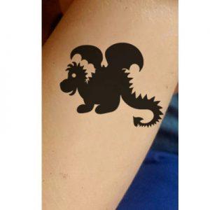 T-1011-Stencil-Tattoo-Self adhesive Stencils Face Painting Design Decoration Dragon