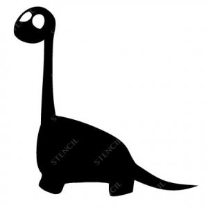 T-1018-Stencil Tattoo Self adhesive Stencils Face Painting Design Decoration Dinosaur