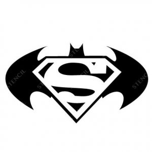 T-1020-Stencil Tattoo Self adhesive Stencils Face Painting Design Decoration Bat