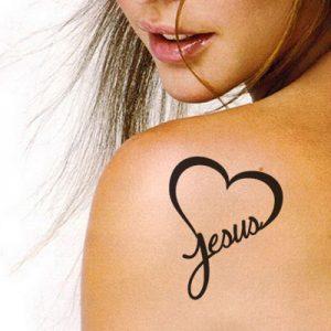 T-17005 Pochoir pour Tatouage Auto-adhésifs pour Visage Peinture Design Décoration Jesus