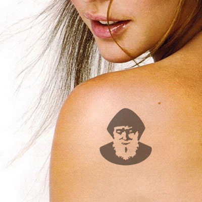 T-17008 Stencil Tattoo Self adhesive Stencils Face Painting Design Decoration Charbel