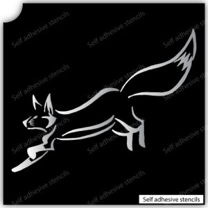 T-2014 Stencil Tattoo Self adhesive Stencils Face Painting Design Decoration Fox