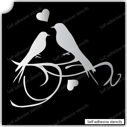 T-3000 Stencil Tattoo Self adhesive Stencils Face Painting Design Decoration Lovely Birds