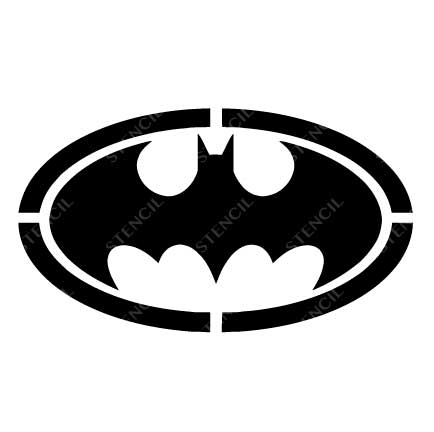 TR-1017 Bat Stencil Tattoo Self adhesive Stencils Face Painting Design Decoration