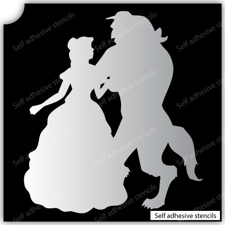 TR-1019 Stencil Tattoo Self adhesive Stencils Face Painting Design Decoration Girl Beast