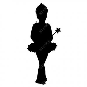 TR-1022 Girl Stencil Tattoo Self adhesive Stencils Face Painting Design Decoration