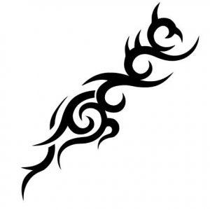 TR-12005 Stencil Tattoo Self adhesive Stencils Face Painting Design Decoration Cherry Arabic Word eimpression.ca
