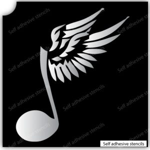 TR-13001 Stencil Tattoo Self adhesive Stencils Face Painting Design Decoration Cherry Arabic Word eimpression.ca