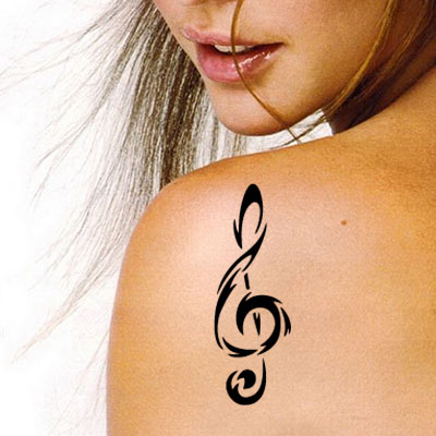 TR-13002 Stencil Tattoo Self adhesive Stencils Face Painting Design Decoration Cherry Arabic Word eimpression.ca
