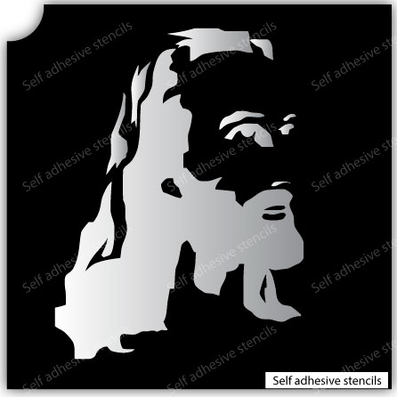 T-17001 Stencil Tattoo Self adhesive Stencils Face Painting Design Decoration Christ