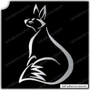 TR-2000 Fox Stencil Tattoo Self adhesive Stencils Face Painting Design Decoration