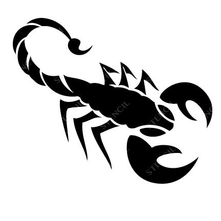 TR-2001 Scorpion Stencil Tattoo Self adhesive Stencils Face Painting Design Decoration