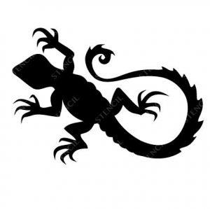 TR-2002 Lezard TR-2001 Scorpion Stencil Tattoo Self adhesive Stencils Face Painting Design Decoration