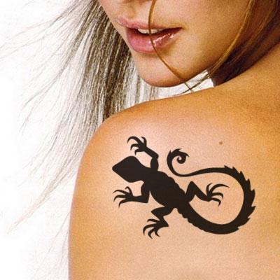 TR-2002 Lezard Scorpion Stencil Tattoo Self adhesive Stencils Face Painting Design Decoration