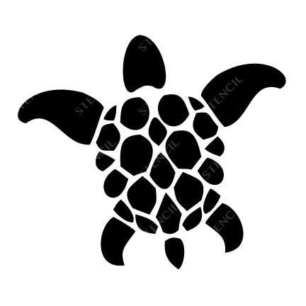 TR-2005 Turtle Stencil Tattoo Self adhesive Stencils Face Painting Design Decoration