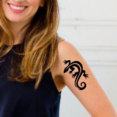TR-2006 Lizard Stencil Tattoo Self adhesive Stencils Face Painting Design Decoration