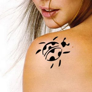 TR-2008 Bug Stencil Tattoo Self adhesive Stencils Face Painting Design Decoration