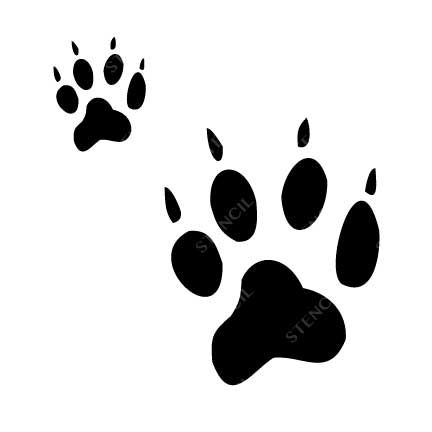 TR-2009 Dog feet Stencil Tattoo Self adhesive Stencils Face Painting Design Decoration