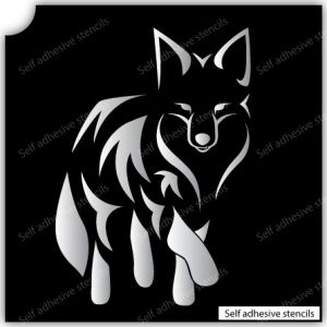 TR-2016 Fox Stencil Tattoo Self adhesive Stencils Face Painting Design Decoration