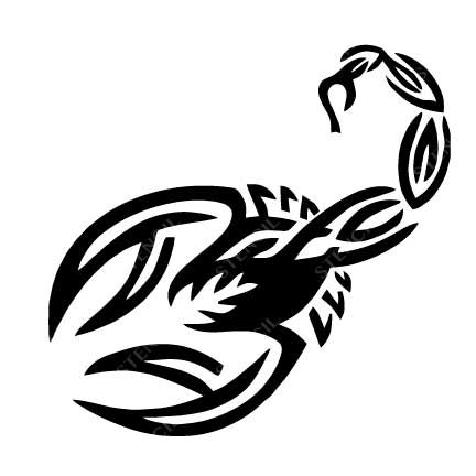 TR-2019 Scorpion Stencil Tattoo Self adhesive Stencils Face Painting Design Decoration