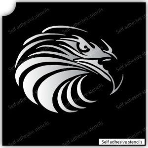 TR-3003 Eagle Stencil Tattoo Self adhesive Stencils Face Painting Design Decoration