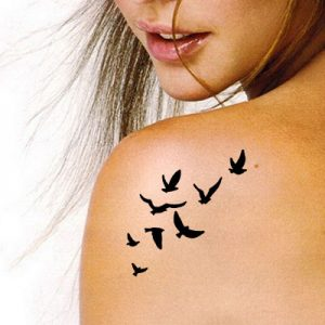 TR-3004 Birds Stencil Tattoo Self adhesive Stencils Face Painting Design Decoration
