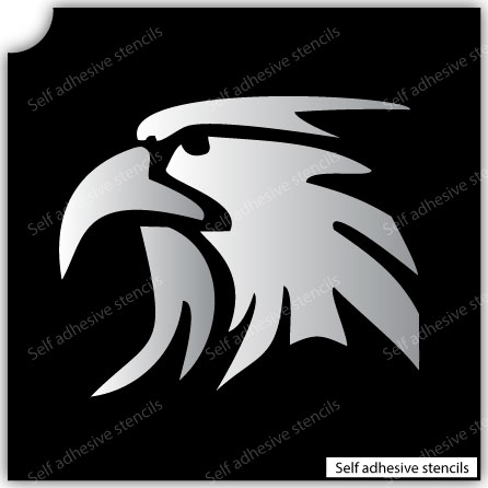 TR-3009 Eagle Stencil Tattoo Self adhesive Stencils Face Painting Design Decoration