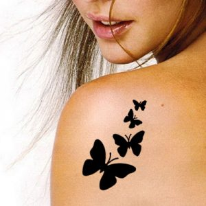 TR-4006 Stencil Tattoo Self adhesive Stencils Face Painting Design Decoration