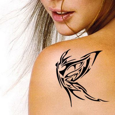 TR-4009 Stencil Tattoo Self adhesive Stencils Face Painting Design Decoration