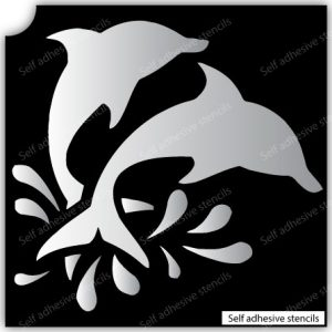 TR-6005 Stencil Tattoo Self adhesive Stencils Face Painting Design Decoration Dolphin