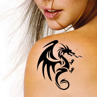 TR-7000 Stencil Tattoo Self adhesive Stencils Face Painting Design Decoration Dolphin
