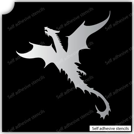 TR-7004 Stencil Tattoo Self adhesive Stencils Face Painting Design Decoration Dragon