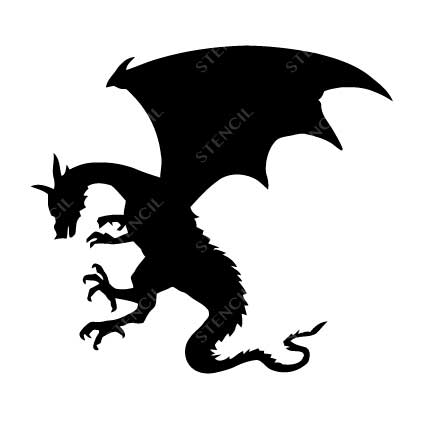 TR-7005 Stencil Tattoo Self adhesive Stencils Face Painting Design Decoration Dragon