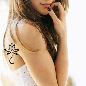 TR-8005 Stencil Tattoo Self adhesive Stencils Face Painting Design Decoration Flower eimpression.ca