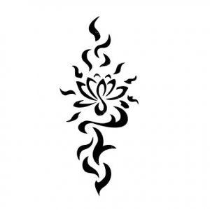 TR-8009 Stencil Tattoo Self adhesive Stencils Face Painting Design Decoration Flower eimpression.ca
