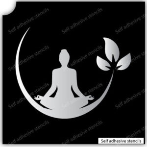 Yoga Spa Stencil Tattoo Stickers silhouette vinyl