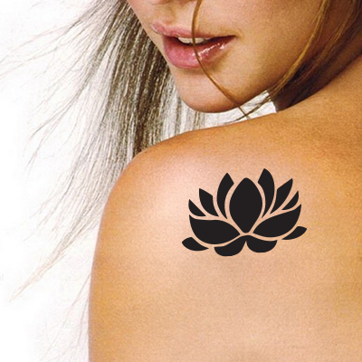 Flower Stencil Tattoo Stickers silhouette vinyl
