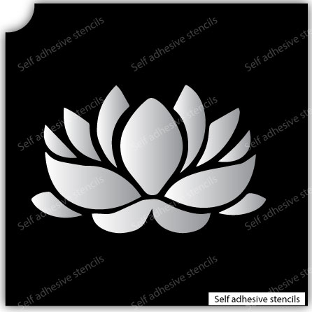 Flower Stencil Tattoo Stickers silhouette vinyl