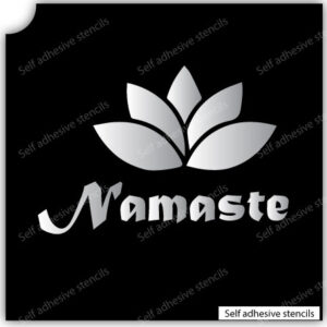 Namaste Flower Stencil Tattoo Stickers silhouette vinyl Yoga